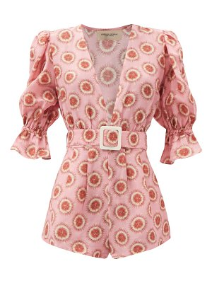 ADRIANA DEGREAS exotic passion belted playsuit