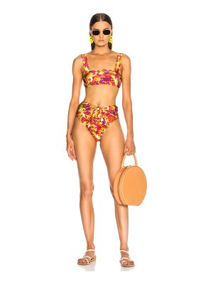 ADRIANA DEGREAS Fruits Print High Leg Swimsuit