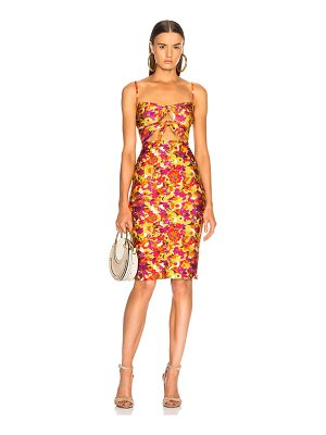 ADRIANA DEGREAS Fruits Print Short Dress