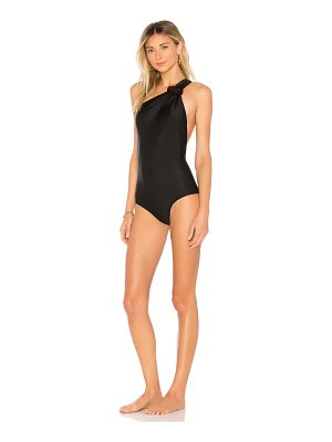 ADRIANA DEGREAS One Shoulder Swimsuit with Buckle