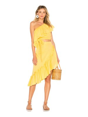ADRIANA DEGREAS Ruffle Top & Skirt Set