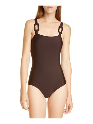 ADRIANA DEGREAS solid one-piece swimsuit
