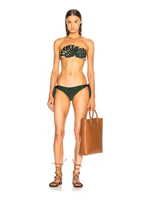ADRIANA DEGREAS Strapless Swimsuit With Tulle