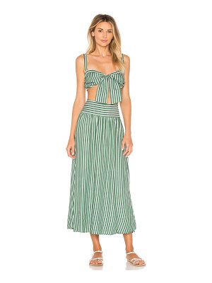 ADRIANA DEGREAS Striped Top and Skirt Set