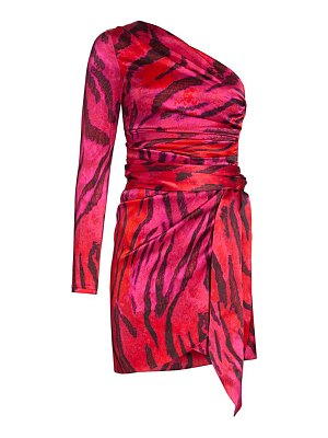 ADRIANA IGLESIAS candela one-shoulder stretch-silk dress