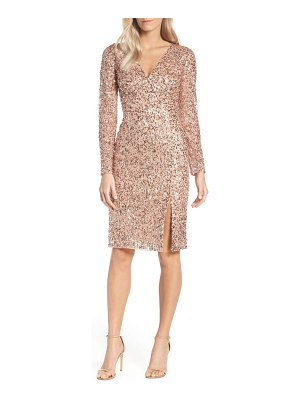 Adrianna Papell beaded mesh cocktail dress