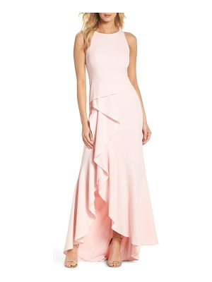 Adrianna Papell cascade crepe gown