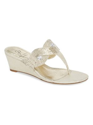 Adrianna Papell coco beaded wedge sandal