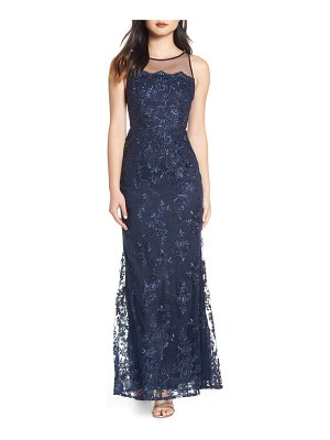 Adrianna Papell corded lace evening dress