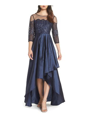 Adrianna Papell embellished high/low gown