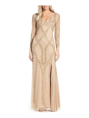 Adrianna Papell fern beaded gown