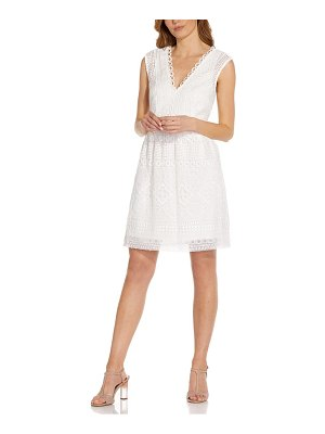 Adrianna Papell guipure lace sleeveless fit & flare dress
