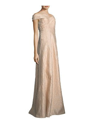 Adrianna Papell Off-the-Shoulder Gown