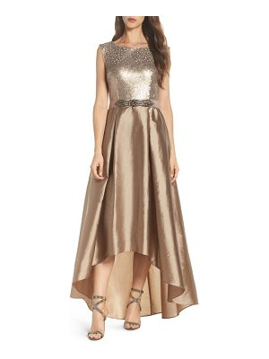 Adrianna Papell ombre sequin ballgown