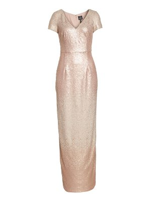 Adrianna Papell ombre sequin gown