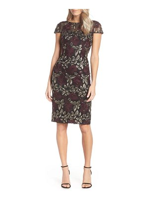 Adrianna Papell sequin embroidered cocktail dress