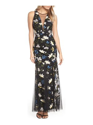 Adrianna Papell sequin embroidery gown
