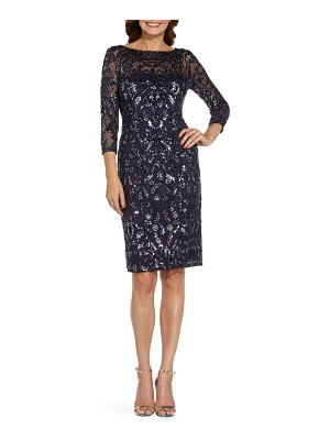 Adrianna Papell sequin mesh cocktail dress