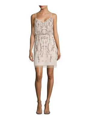 Adrianna Papell Sequined Blouson Dress