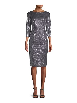 Adrianna Papell Sequined Knee-Length Dress