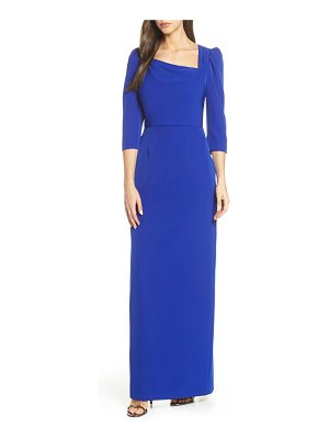 Adrianna Papell stretch crepe evening dress