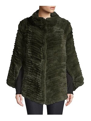 Adrienne Landau rex rabbit fur cape
