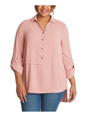Adyson Parker roll tab button-up tunic shirt