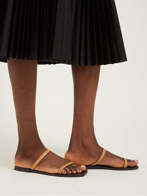 A.Emery lola double strap leather slides