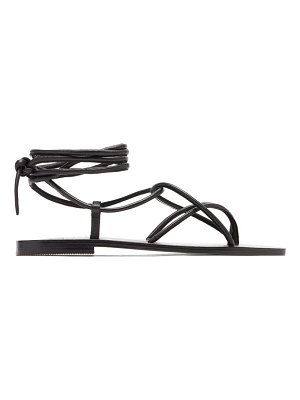 A.Emery the hazel leather wraparound sandals