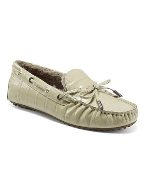 Aerosoles faux shearling boater driving moccasin