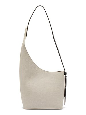 AESTHER EKME demi lune linen and leather bucket bag