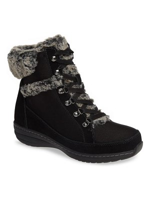 Aetrex fiona faux fur lined boot