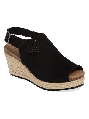 Aetrex sheery espadrille wedge