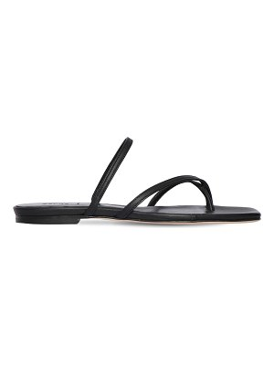 aeyde 10mm marina leather flat sandals