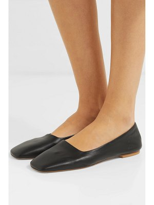aeyde beau leather ballet flats
