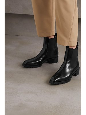 aeyde karlo patent-leather chelsea boots