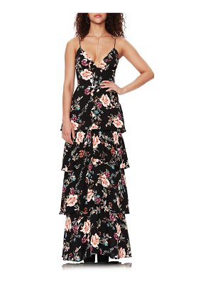 AFRM berlin floral tiered crepe maxi dress