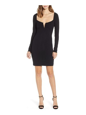 AFRM capo notched scoop neck sweater dress