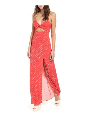 AFRM marie twisted knot front maxi dress