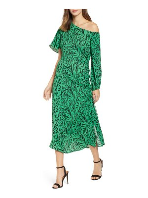 AFRM one-shoulder printed midi dress