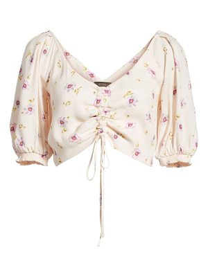 AFRM rodeo ruched crop top