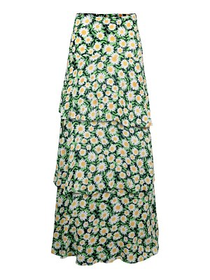 AFRM sabine tiered maxi skirt