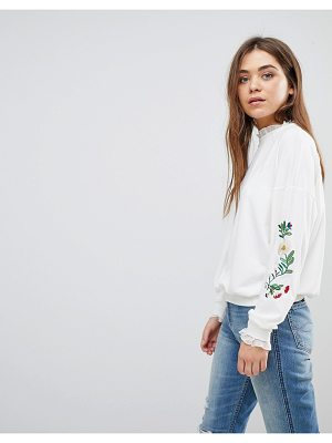 After Market embroidered sweatshirt