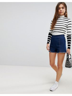 After Market frayed hem denim shorts