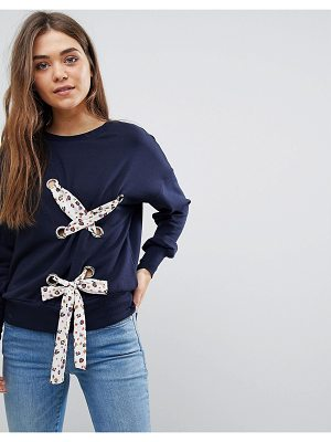 After Market lace up detail sweatshirt