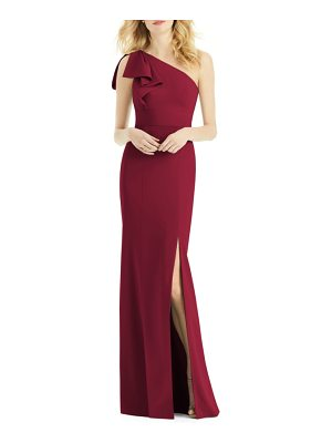 After Six bow one-shoulder gown
