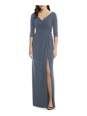After Six crisscross stretch crepe evening dress