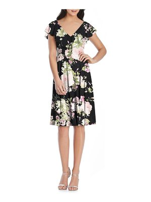After Six floral print chiffon cocktail dress