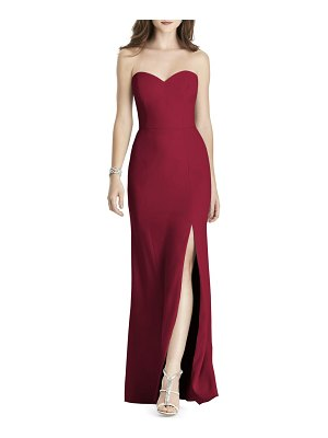 After Six strapless crepe trumpet gown