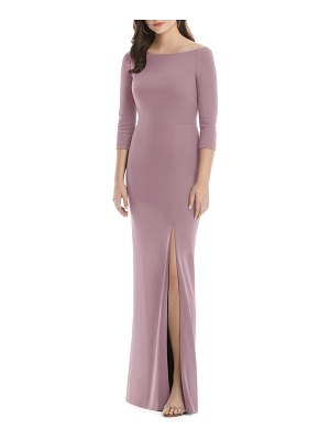 After Six wide bateau neck stretch crepe evening dress
